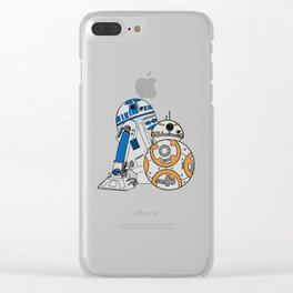 R2D2 and BB8 Clear iPhone Case