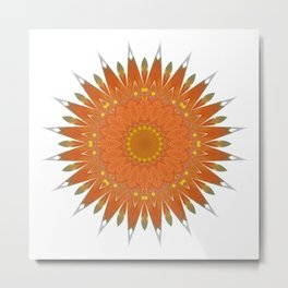 Mandala orange no. 2 Metal Print