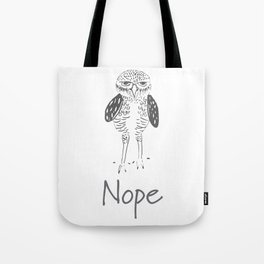 Nope in Black & White Tote Bag