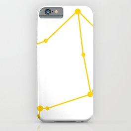 Libra (Yellow & White) iPhone Case
