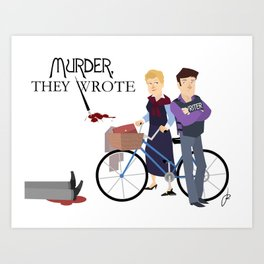 Murder They Wrote Art Print