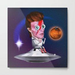 Ziggy Stardust is Bowie Metal Print