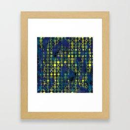 gold&blue Framed Art Print