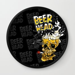 beer head Wall Clock