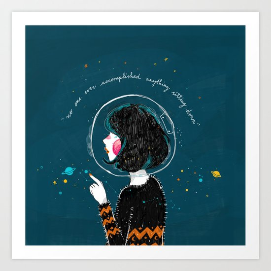 Space Quote Art Print