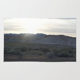 On The Road: Rare Lush Greenery At Sundown In Death Valley Spring Bloom 2016 Rug