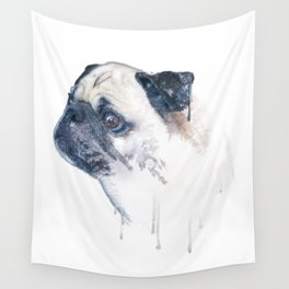 Pug Forest Wall Tapestry
