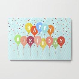 Colorful Birthday card Metal Print