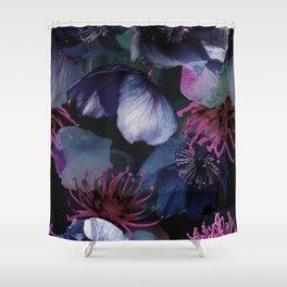Moody Lenten Rose Shower Curtain