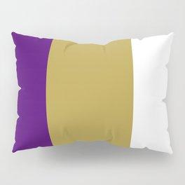 Team Colors 7....purple,gold,white Pillow Sham