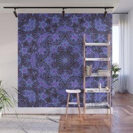 Blue and Purple Kaleidoscope 2 Wall Mural