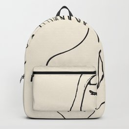 Minimalist Abstract Woman I Backpack