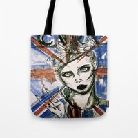 uk Tote Bags featuring UK by Thomasine