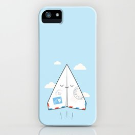 Airmail - via paper plane ! iPhone Case