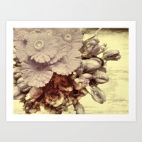 vintage floral Art Prints featuring Vintage Floral by Joke Vermeer