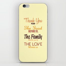 Thanksgiving Grace | Fall Colors iPhone Skin