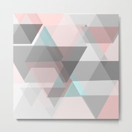 triangle abstract background Metal Print