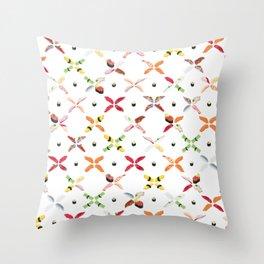 Sushimon - Shiro Throw Pillow