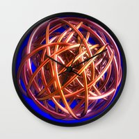 the wire Wall Clocks featuring Wire Ball by Brian Raggatt