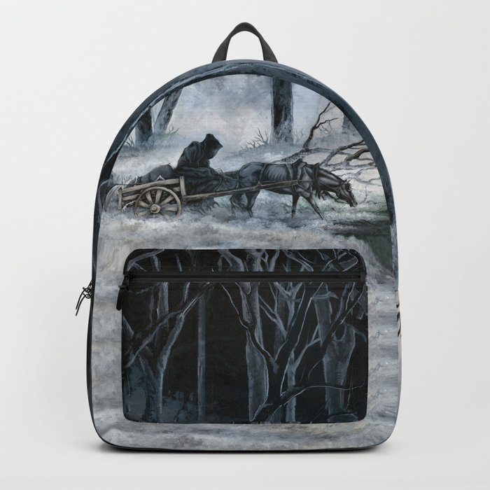 Grim Reaper with Horse in the Woods Backpack