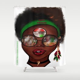 Kwanzaa Kween Shower Curtain