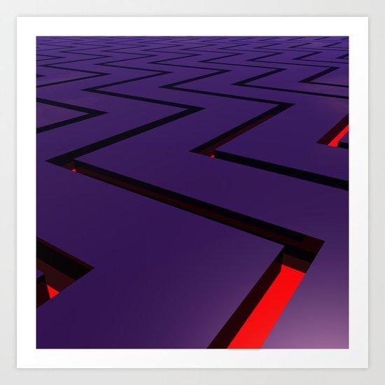 Zig Zag Purple Art Print