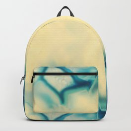 Sapphire Blue Agate Geode Crystal Gem stone Marble Pattern Backpack