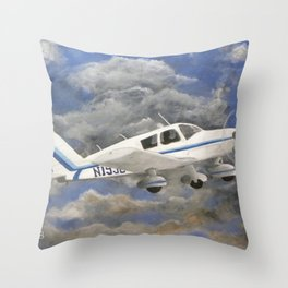 Soaring, Piper Cherokee Airplane Throw Pillow