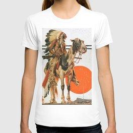 12,000pixel-500dpi - Joseph Christian Leyendecker - Indians And Bonfire - Digital Remastered Edition T-shirt