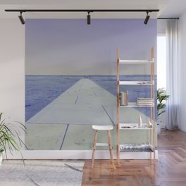 Purple sea Wall Mural