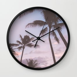 Pastel Palm Trees Wall Clock