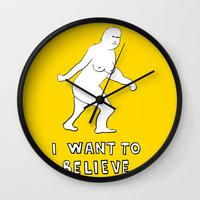i want to believe Wall Clocks featuring I want to believe by sharon