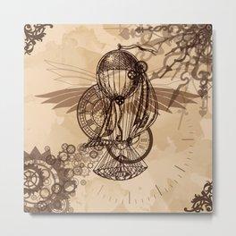 Steampunk - Clock and Gears Ballon Metal Print