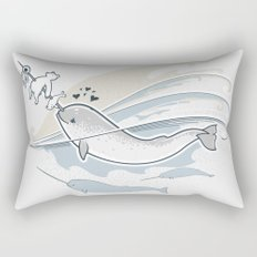 The Friendly Narwhal Rectangular Pillow