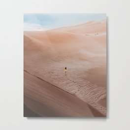 Moonscape musing in the Colorado Sand Dunes Metal Print