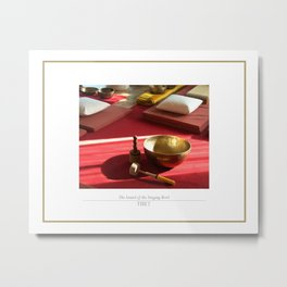 The sound of the golden singing bowl Metal Print