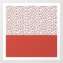 Triangles Fiesta Red Art Print