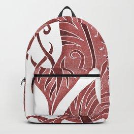 Leaf - Exotic Boho Leaf Pattern 04- Colorful, Modern, Tropical Art - Pink, Auburn, Tamarillo Backpack