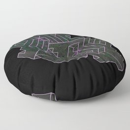 Distorting Darkness Floor Pillow