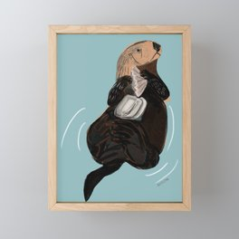 California Sea otter Framed Mini Art Print