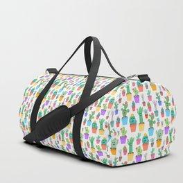 Sunny Happy Cactus Family Duffle Bag