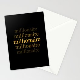 Millionaire Stationery Cards