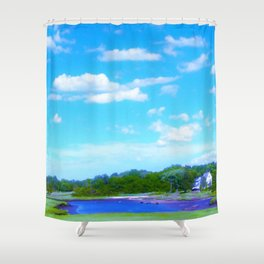 Summer on the Essex River Shower Curtain