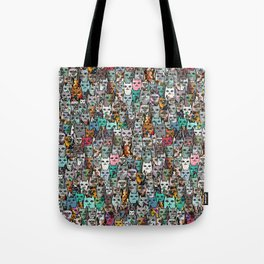 Gemstone Cats Tote Bag