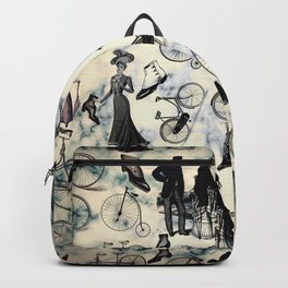 Victorian Bicycles and Fashion Backpack