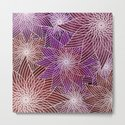 FLORAL IN RED AND VIOLET by absentisdesigns