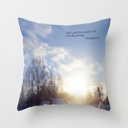 Light is Good Throw Pillow