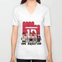 1d V-neck T-shirts featuring Lego: One Direction 1D by Akyanyme