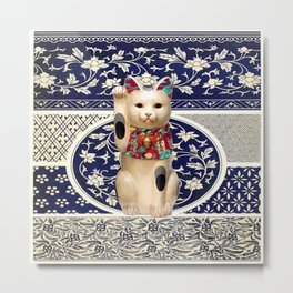 Maneki Neko (Lucky Cat) I Metal Print