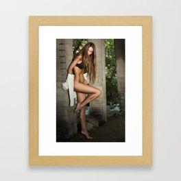 L. Framed Art Print